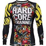Rashguard Hardcore Training X Manto Doodles-xl MMA BJJ Fitness Grappling Camiseta de...