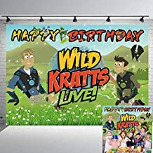 Wild Kratts Backdrops Birthday Party Supplies Banner Wildlife World Adventure Photography Background for Boy Photo Booth Studio Props 7x5Ft