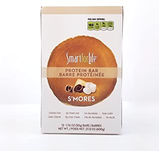 Smart for Life - Top Quality, Smores, Low Sugar, Rice Crispy Texture, Pack of 12 Protein Bars 21.12 oz.