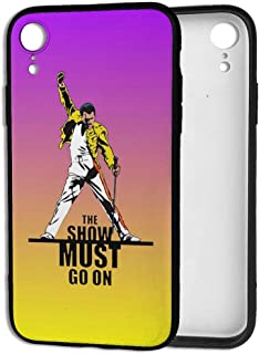 Freddie Mercury Show Must Go On iPhone XR Cases, Slim Fit Shock Proof Cell Phone Case Cover