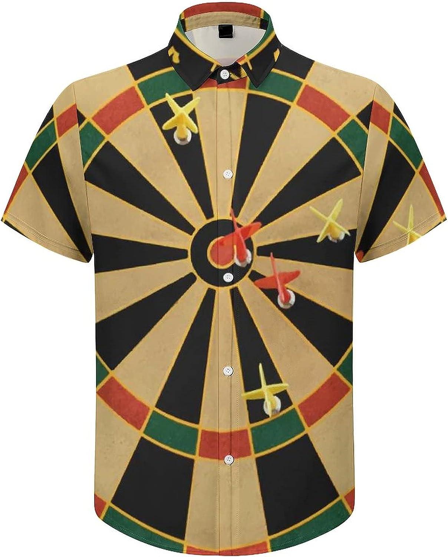 Hawaiian Shirts for Men Dartboard Game Printed Beach Shirt Hawaiian Shirts
