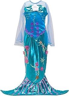 Disfraz de Sirena Infantil Traje para Niña,Vestido