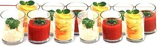 Caja de 12x Cristal para aperitivos cóctel de frutas cuencos de postre de vasos de chupito