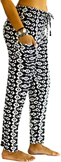 PI Yoga Pants - Women's Tall Straight Leg, Loose Comfortable Boho Athleisure Wear (Stretches Size 0-10)