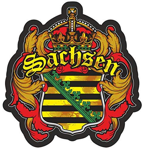 Aufkleber Wetterfest Sachsen 10 oder 40cm Chemnitz Dresden Leipzig Wappen