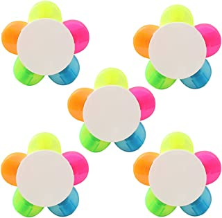 NUOLUX 5pcs Petals Highlighters Fluorescent Petal Watercolor Marker Pen,5 Color