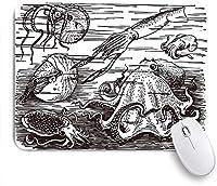 ECOMAOMI 可愛いマウスパッド 多くの異なる海の動物 滑り止めゴムバッキングマウスパッドノートブックコンピュータマウスマット
