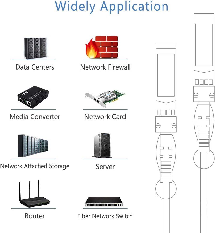 16ft Netgear Passive Direct Attach SFP+ to SFP+ Copper Twinax Cable for Cisco SFP-H10GB-CU5M Open Switch Devices 5m QSFPTEK 10G SFP+ DAC Cable D-Link Ubiquiti Mikrotik
