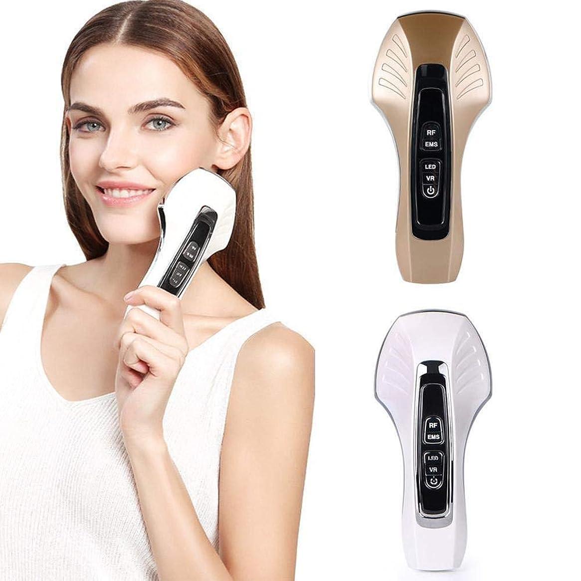 強調奇妙な恥ずかしいEMS微細電流フェイシャル振動マッサージ顔、顔の薄い顔RF無線周波数美容器具ホワイトニング及び若返りマッサージと顔リフティング