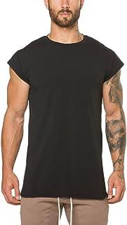 Manga Corta Camiseta para Hombre Entrenamiento Fitness Moda Color Sólido Ropa de Fitness Gimnasio Deportivo Casual Cómodo ...