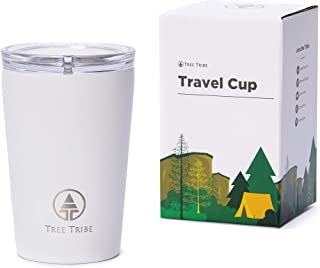 Insulated Travel Cup with Lid for Coffee, Tea, Drinking