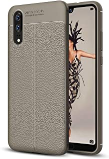 JDYS AYSMG For Huawei P20 Litchi Texture Soft TPU Protective Back Cover Case(Black) (Color : Grey)