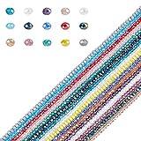 AHANDMAKER Perlas de Vidrio Electrochapado, 2200 Uds, Cuentas de Cristal Facetado de 4 mm con Orificio de 0.5 mm para Pulsera, Collar, Fabricación de Joyas, Proyecto de Artesanía DIY, 16 Colores