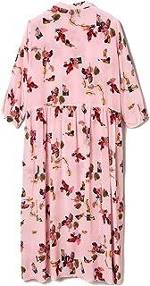 ChengBeautiful Vestido Casual Mujer Vestido de Seda Rosa Mujer Manga Recortada Temperamento Vestido de Seda de la Cintura for la Primavera y el Verano Vestido Sin Mangas (Color : Pink, Size : L)