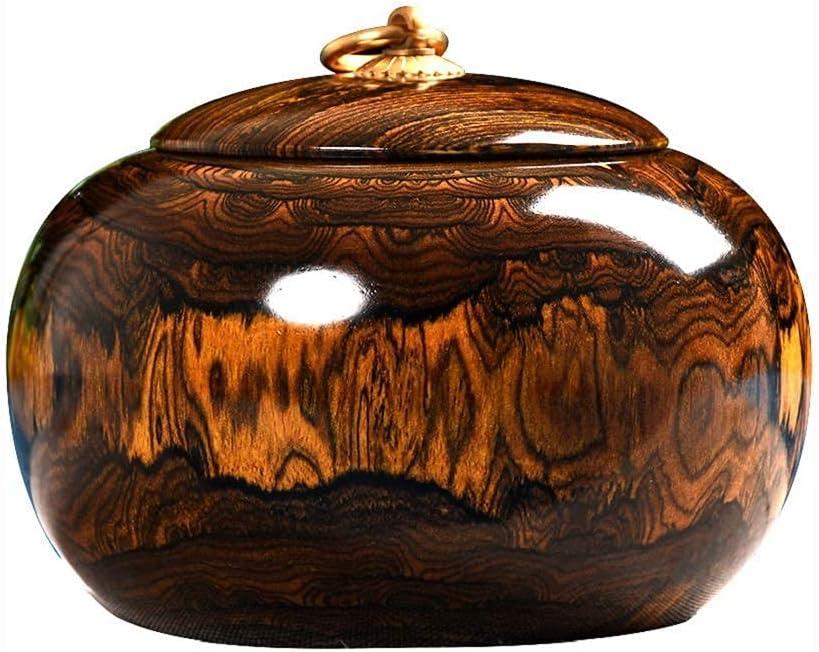 GYC Pequeñas Cenizas para Humanos y Mascotas Urnas de cremación de cerámica de Arcilla púrpura/Zisha, urna funeraria Conmemorativa de Recuerdo, ataúdes y urnas con diseño de Pino