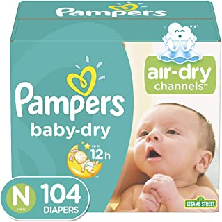 Pampers Baby-Dry Diapers Size 0 104 Count