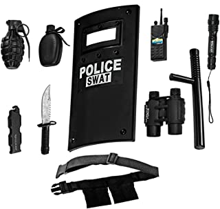 Dress-Up-America Police Toys Role Play - Ultimate All-In-One Police Costume For Kids – Police Officer SWAT Gear Set Includ...