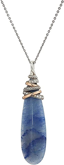 Neptune's Rings Pyramid Banded Quartz Necklace