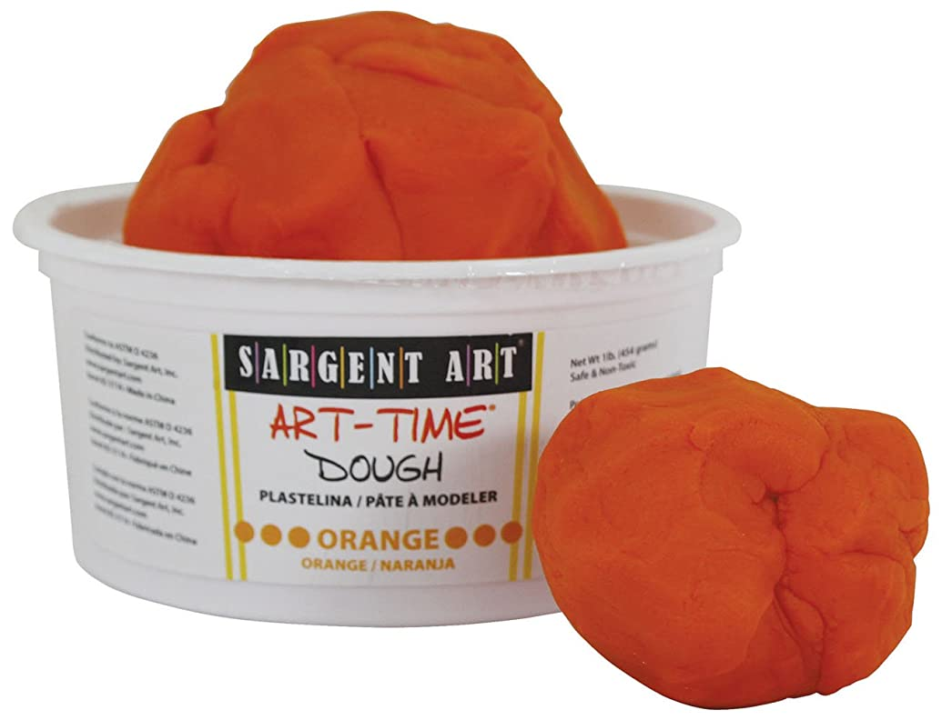 Sargent Art 85-3114 1-Pound Art-Time Dough, Orange