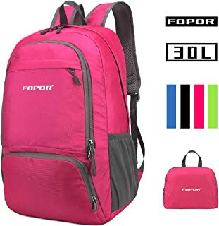 Foldable Lightweight Hiking Daypack Backpack - Water Resistant Folding Knapsack