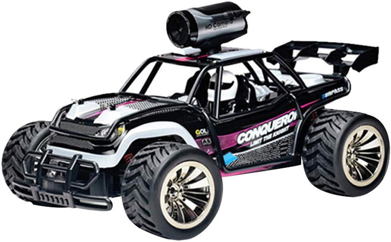 Erthome 1  16-Skala Hochgeschwindigkeits-2,4 GHz 2WD-ferngesteuertes RC-Gelndewagen Entfernung Fahrzeug Spielzeug Radio gesteuertes Auto (Lila)