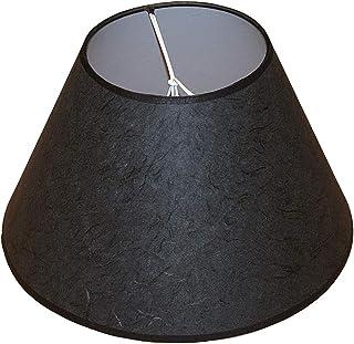 Abażur 315x150x175 mm podstawa x wysokość   Stożek   Papier ryżowy, czarny   Nakładany na dużą bańkę żarówki   Do lamp sto...