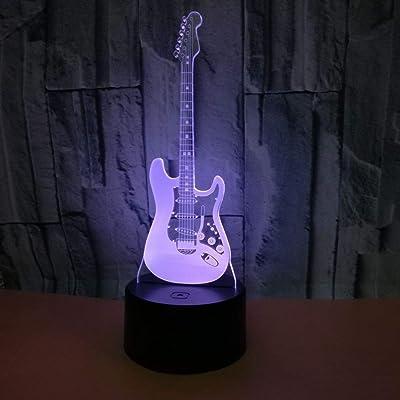 Lámpara 3D Lámpara de mesa de ilusión nocturna para guitarra ...