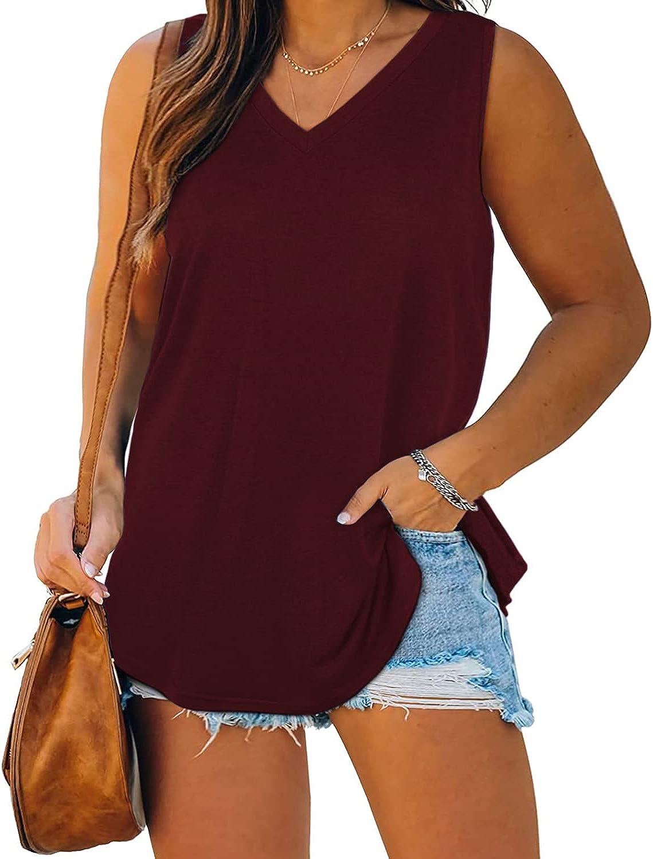 Women Plus Size Tank Tops Summer Sleeveless Blouses Novelty Tunics T-Shirts Sweat Vest Camis at  Women's Clothing store