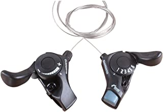YAD Shimano Tourney Shifter SL-TX30 3x6 Speed Thumb Shifters with Inner Shift Cables
