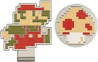 Super Mario Bros, Golf Ball Marker with Hat Clip (Mario & Kinoko)