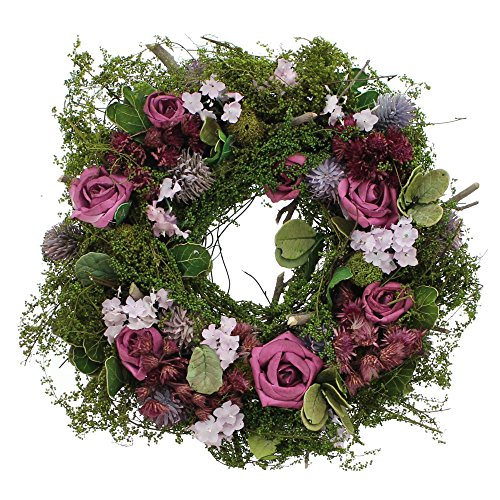 Frank Flechtwaren - Ghirlanda Decorativa Lila Rose