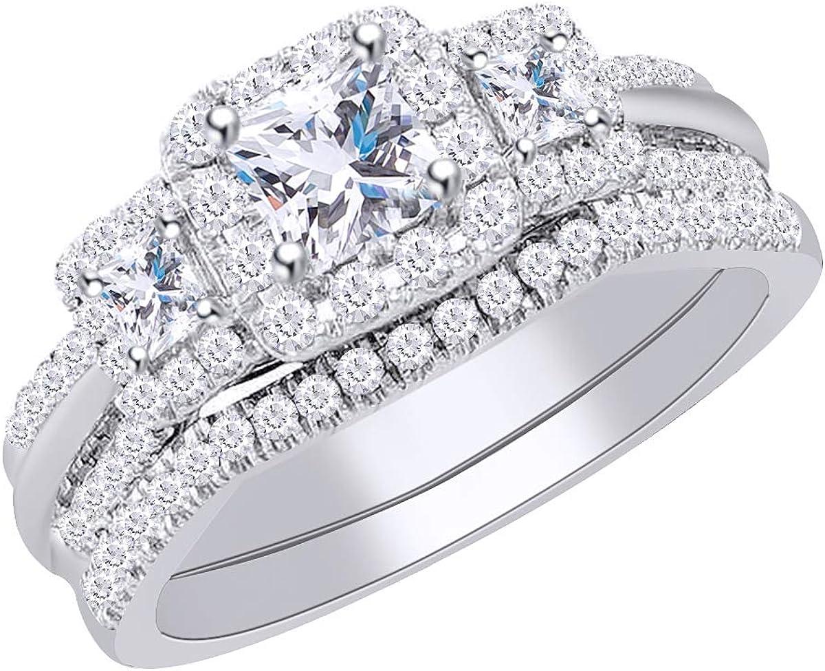 Wishrock 14kt Solid Lowest price challenge Gold Womens Princess Rare Bridal Wedding Diamond