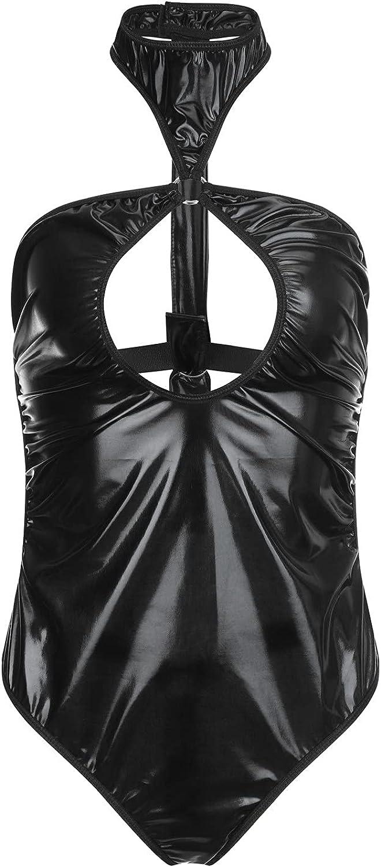 xoxing Women's Lingerie Plus Size Sleepwear Intimates Sexy Underwear Pajamas Tank Tops Chemise Halter Nightwear (L)