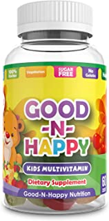 Good-N-Happy Kids Multivitamin Gummies with Vitamin C and Zinc for Immunity, Gluten Free, Biotin, B6 & B12 for Energy - 60...