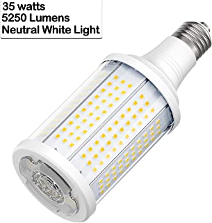 35W LED High-Efficiency Corn Light Bulb,150W Metal Halide Equivalent, 4000K Neutral White Light,5250 high lumens and Standard E26 Base ,Replacement for Metal Halide HID, CFL, HPS