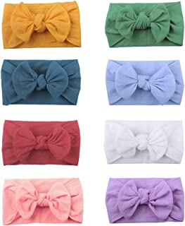 Baby Headbands Bows Headwraps for Girl, Baby Girl Newborn Toddler Child Hair Accessories, Nylon Turban Knotted