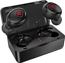 True Wireless Earbuds Bluetooth 5.0 Headphones [2019 Upgraded Version] Sports in-Ear TWS Stereo Mini Headset Deep Bass IPX5 Waterproof Low Latency Instant Pairing 15H Battery Charging Case Earphones