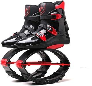 Adulto Mujer Hombre Salta Botas para Correr Zapatos de Rebote antigravedad Zapatos de Salto Rango de Carga de Peso 90-110 kg, Negro/Rojo