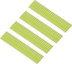 Syga DIY Plastic Grid Drawer Divider Household Storage Strips (Large) -4 Pieces