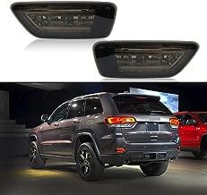 Car LED for Jeep Bumper Reflector Marker Lights for 2011-2018 Jeep Grand Cherokee WK2, Compass and Dodge Rear Fog Brake Light (Black Lens)