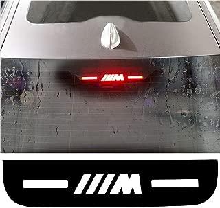 Car High Brake Light Stickers M Performance Rear Stop Brake Lamp Light Decals Veneer Car High Mounted Decorative Emblems Car Mount Interior Stickers for BMW M Logo 3 5 7 Series (for BMW 3 Series)