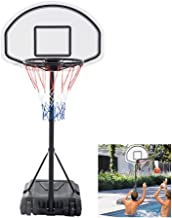 FCH Poolside Basketball Hoop Swimming Pool Kids Junior Adjustable Height Portable Basketball System Backboard Stand Pool Toy