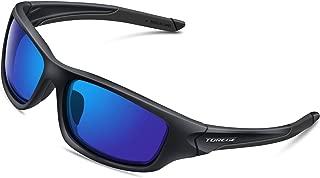 TOREGE Polarized Sports Sunglasses for Man Women Cycling Running Fishing Golf TR90 Frame TR011