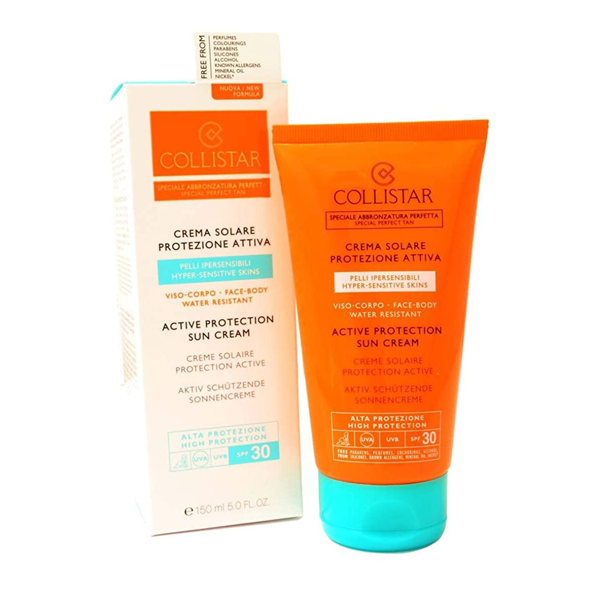 リーフレット川前提Collistar Active Protection Sun Cream Spf30 Face And Body 150ml [並行輸入品]
