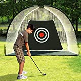 ORIENTOOLS Golf Practice Net Portable Golf Training Equipment, Foldable Golf Driving Net Golf Hitting Net with Carry Bag and Target, Golf Target Net Golf Cage for Indoor/Outdoor Home Backyard 3M