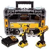 Dewalt DCK211D2T-QW DCK211D2T-QW-KIT 10,8V = Taladro Atornillador Impacto XR + Organizador TSTAK V...