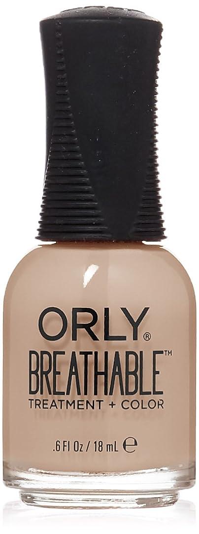受賞検出あごひげOrly Breathable Treatment + Color Nail Lacquer - Nourishing Nude - 0.6oz/18ml