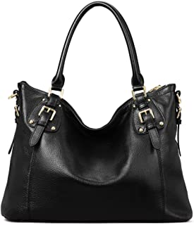 Kattee Women's Vintage Genuine Leather Tote Shoulder Bag