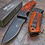 2015 Tactical Folding Knife,blade. Wood Handle, Clips. New in Box. Top Quality.