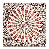 Longzhuo Tapices Mandala Tapices, Bohemia India Mandala Tapices Ropa de Cama Tapiz Tapices, Hippie Tapices Boho Decoración Bohemian Bedding Colcha Yoga Meditación(Naranja)